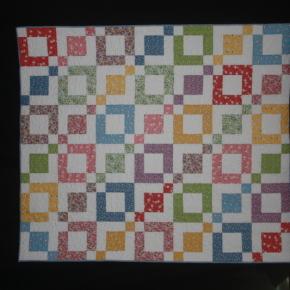 Remembering Grandma: 60x70  - 30's prints on a white tonal background.